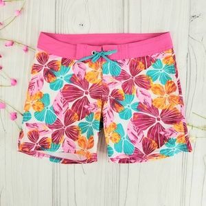 Roxy Girl tropical boardshorts, EUC!